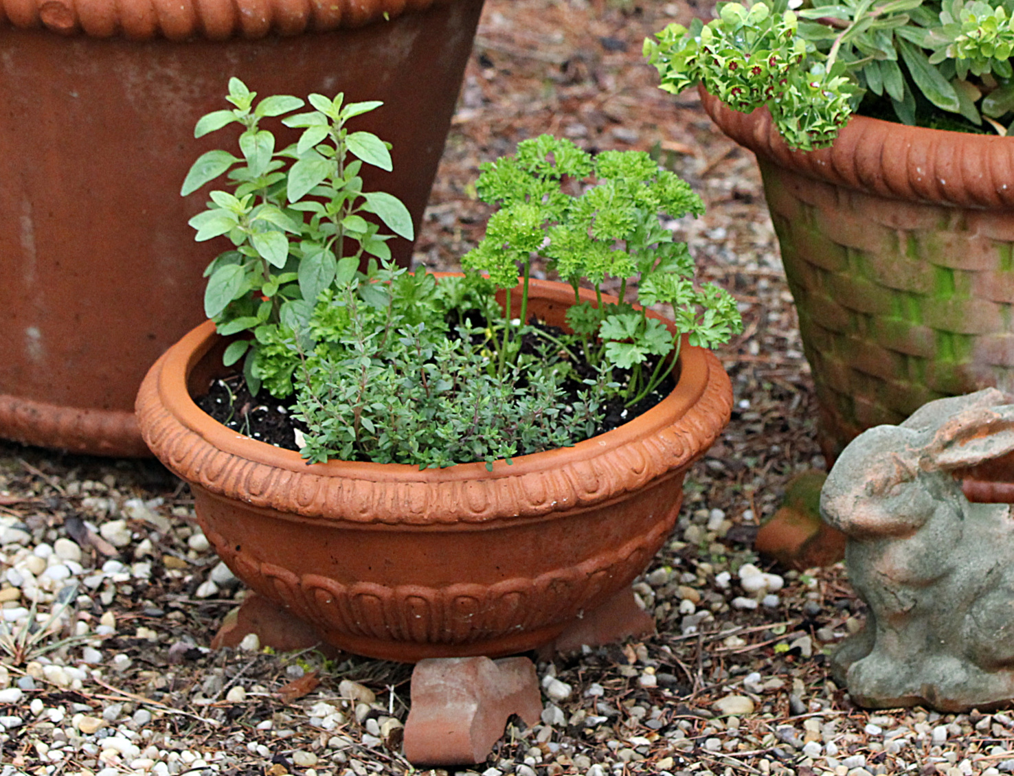 a trio of pots