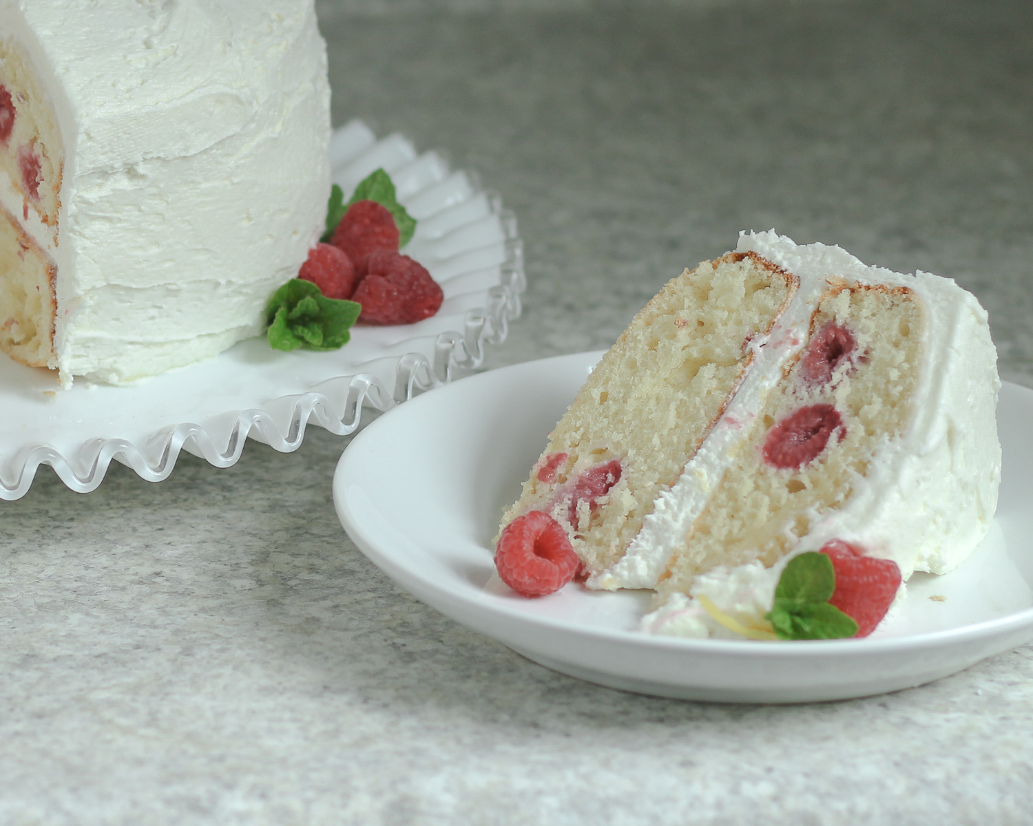 this week's bake – raspberry lemon cake